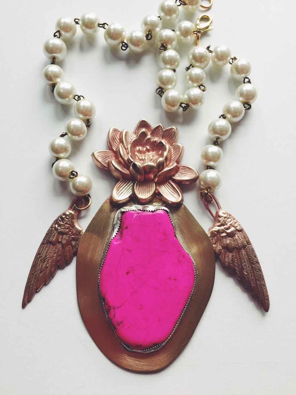 Hot Pink Magnesite Necklace – Michelle DaRin Jewelry